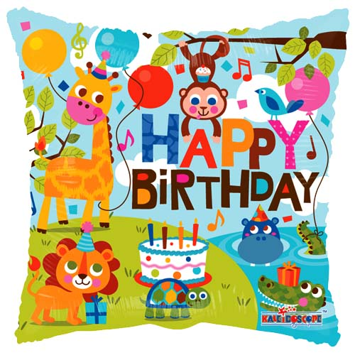 Verjaardag - Happy Birthday Jungle ballon