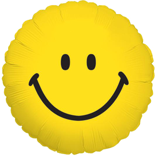 Verjaardag - Smiley heliumballon