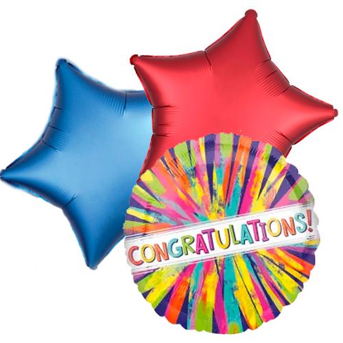 Ballon toefje congrats painterly burst