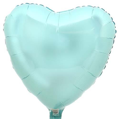 Hart ballon baby blauw