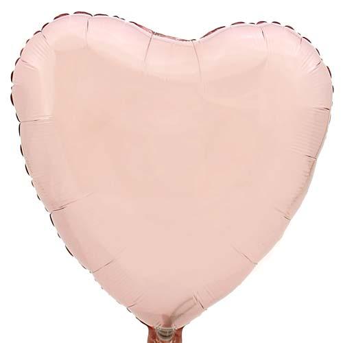 Hart ballon baby roze